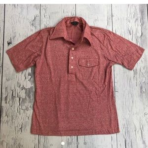 Vintage Essley knit 70's polo shirt red large men